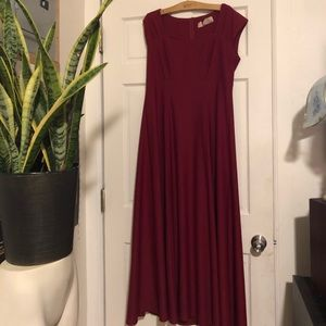 Long cranberry dress size 12-16
